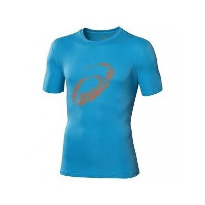 Camiseta Asics Graphic Top Atlantic Azul