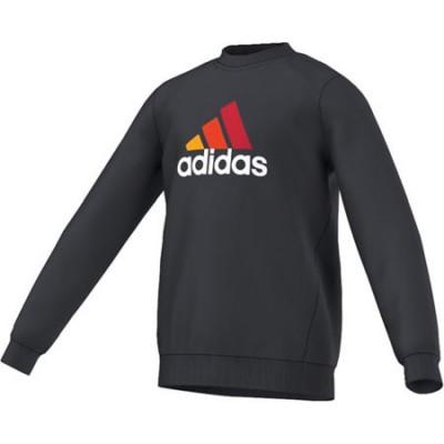 Sudadera Adidas Yb Ess L Negro/Rojsol